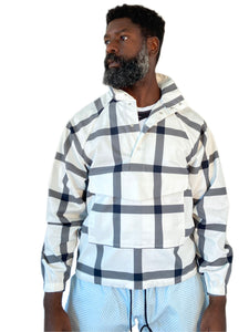 Big Plaid Anorak: White