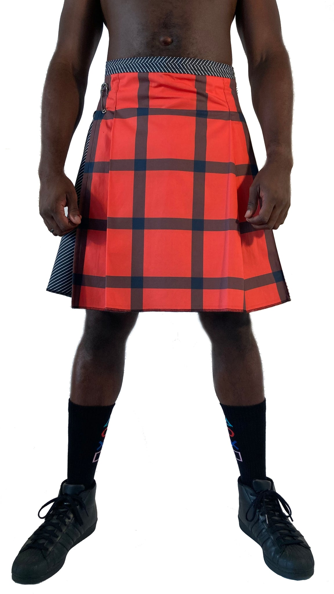 Big Block Kilt: Red/Black