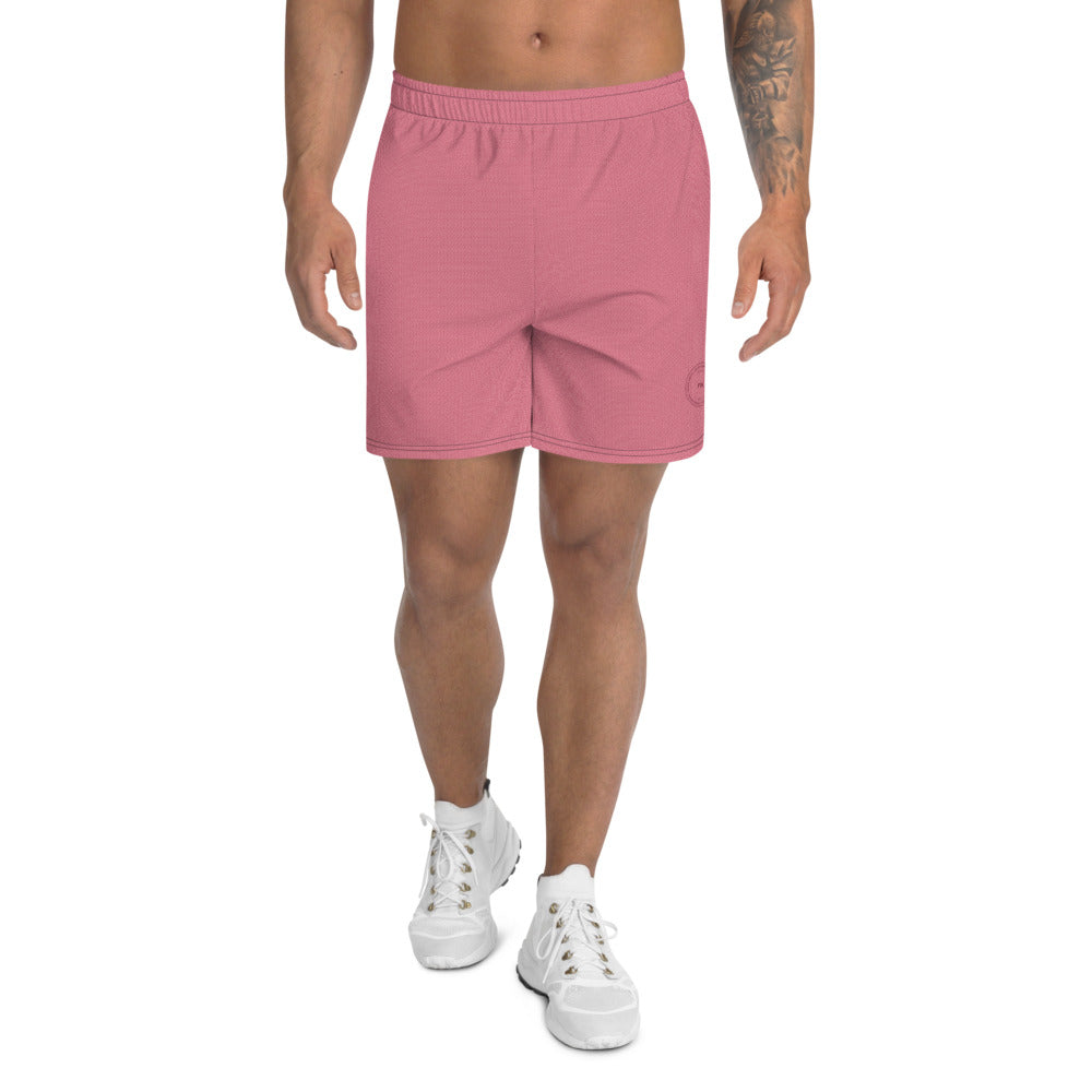 Micro Cube Athletic Shorts: Faded Red