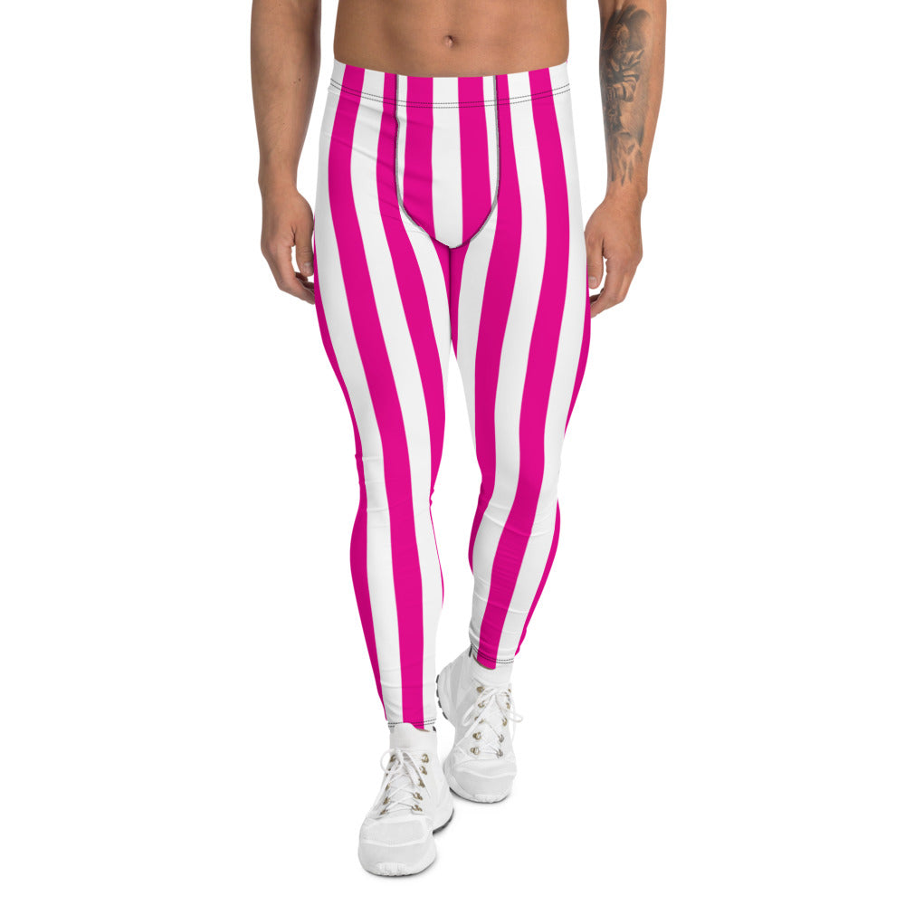 Big Stripe Leggings: Fuchsia