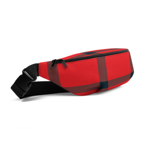 Big Plaid Waist Bag: Red