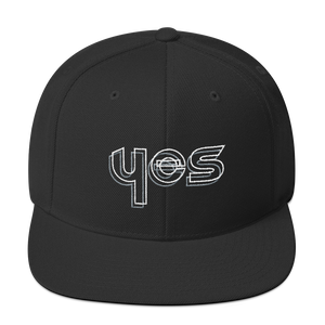 Yes Snapback Hat: Black