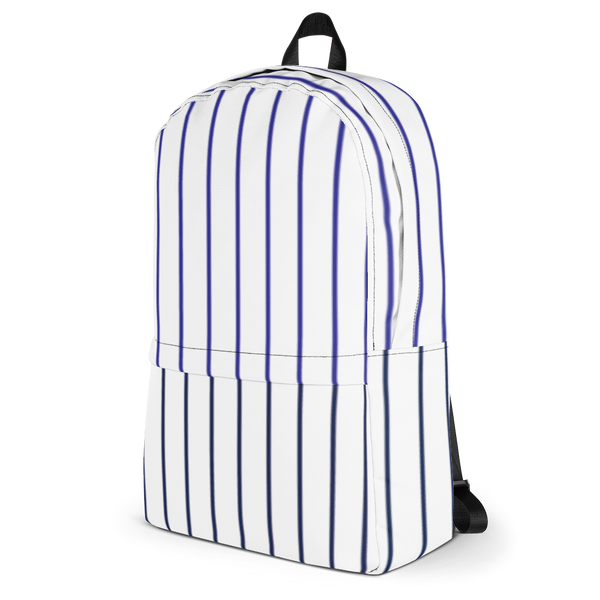 Glow Stripe Backpack - White/Blue/Navy