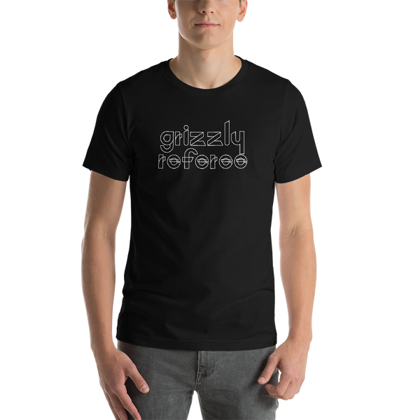 Grizzly Referee Short-Sleeve T-Shirt: Black