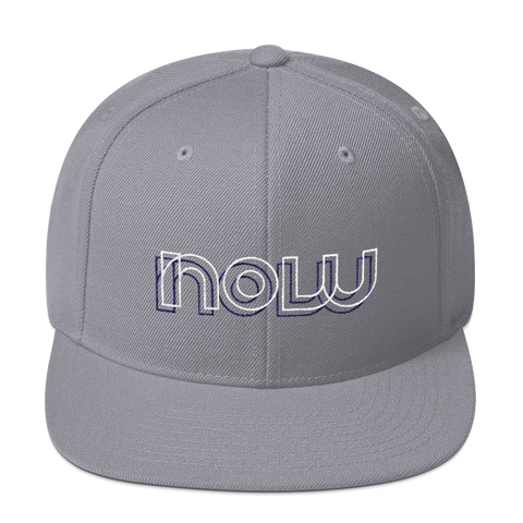 Now Snapback Hat: Grey