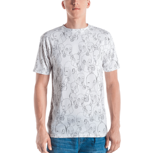 Cream Daddies Printed T-shirt-White