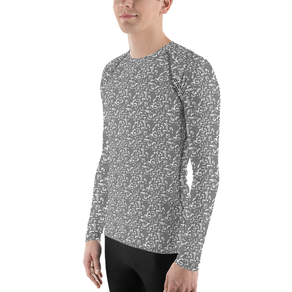 Dot Long Sleeve Athletic T-shirt: Black