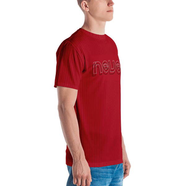 Never Pinstripe T-shirt: Red
