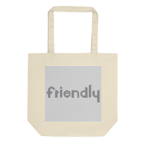 Friendly Tote bag: Grey