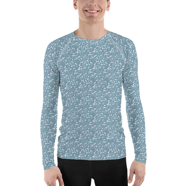 Dot Long Sleeve Athletic T-shirt: Blue