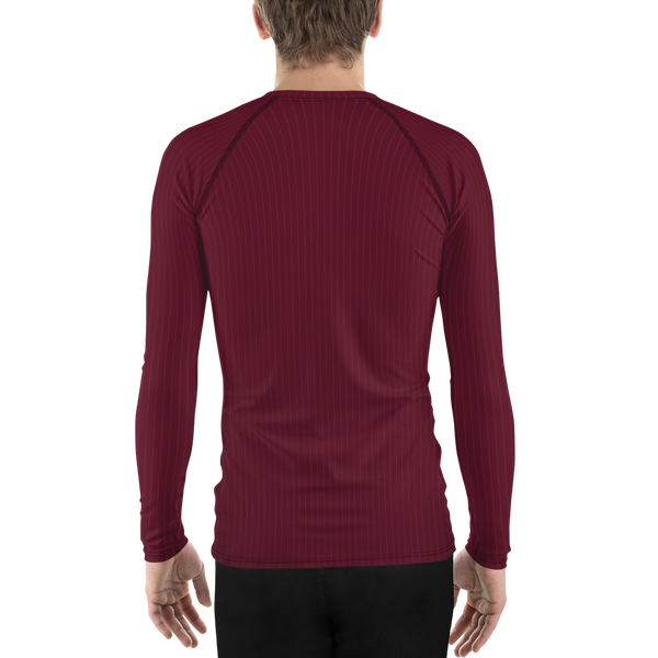 Pinstripe Long Sleeve Athletic T-shirt: Maroon