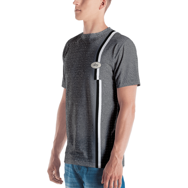 Dirty Worker Micro check T-shirt: Black/White