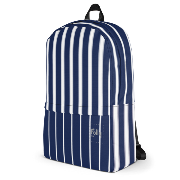 Glow Stripe Patch Backpack - Navy/White