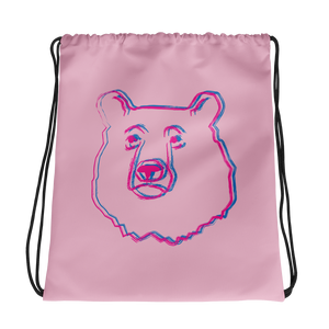 Bear Drawstring bag: Pink