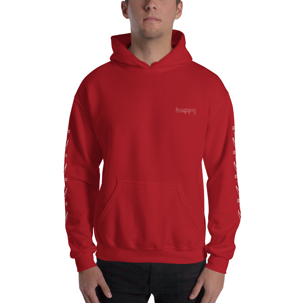 Holidaze Happy Banana Hooded Sweatshirt: Red