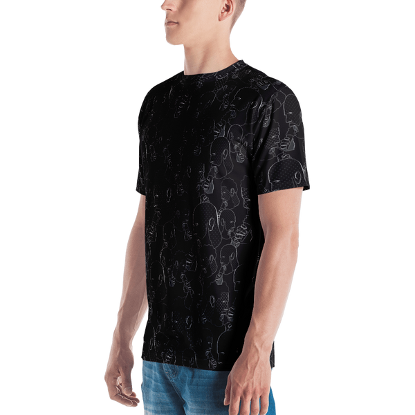 Cream Daddies Printed T-shirt-Black