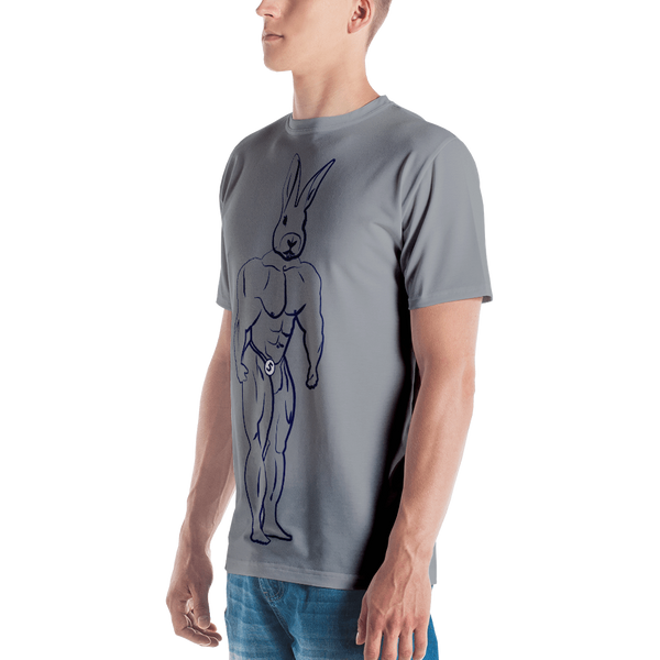 Jacked Rabbit T-shirt: Grey