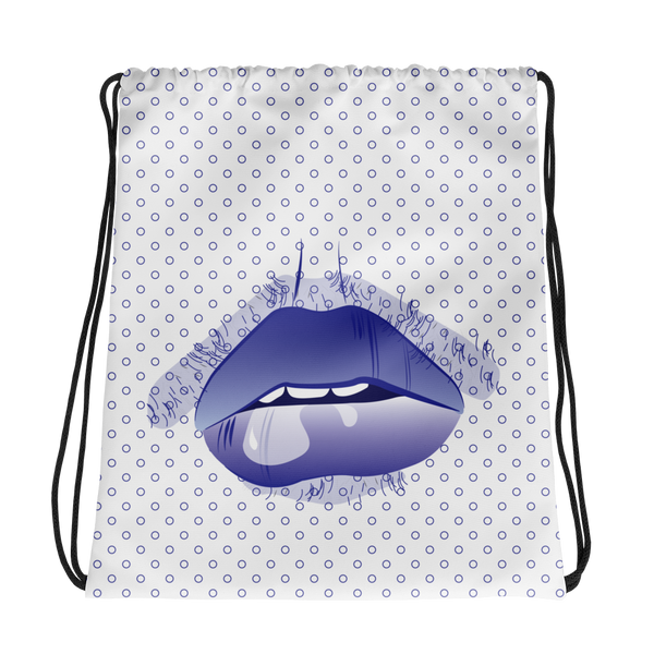 Drool Drawstring bag - Blue