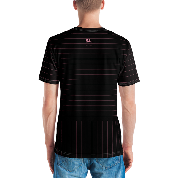 Pink Pin Stripe Printed T-shirt