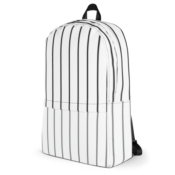 Glow Stripe Backpack - White/Black/Grey