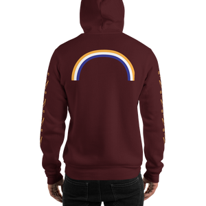 Happy Banana Hooded Sweatshirt: Maroon