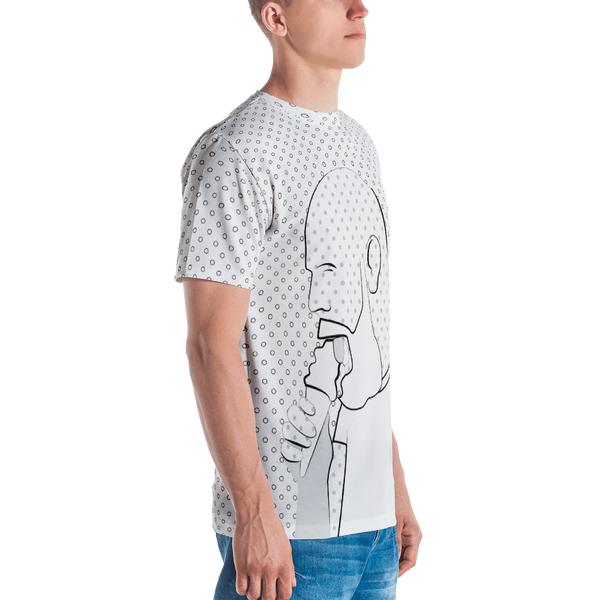 Full Cream Printed T-shirt-White