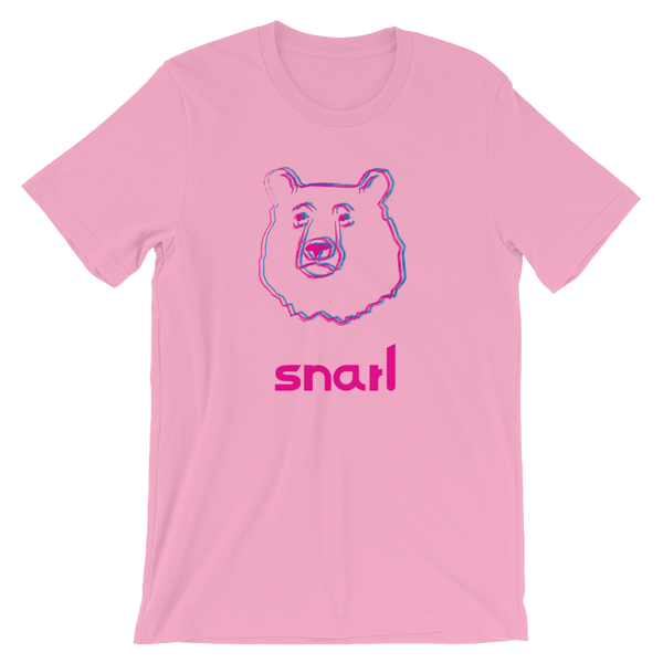 Snarl Bear Short-Sleeve T-Shirt: Pink