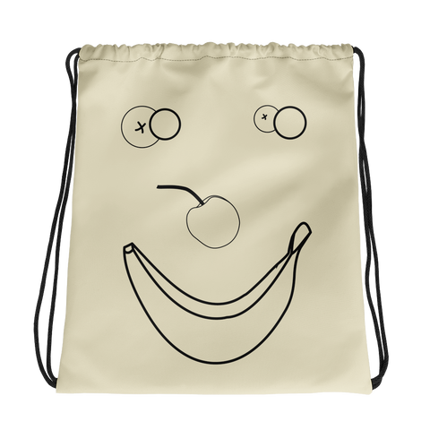 Happy Banana Drawstring bag: Cream