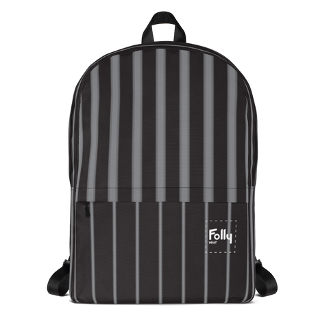 Glow Stripe Patch Backpack - Black/Grey