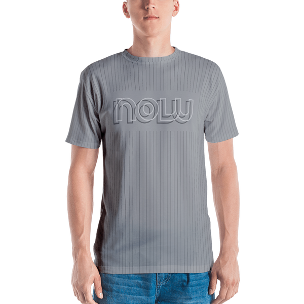 Now Pinstripe T-shirt: Grey