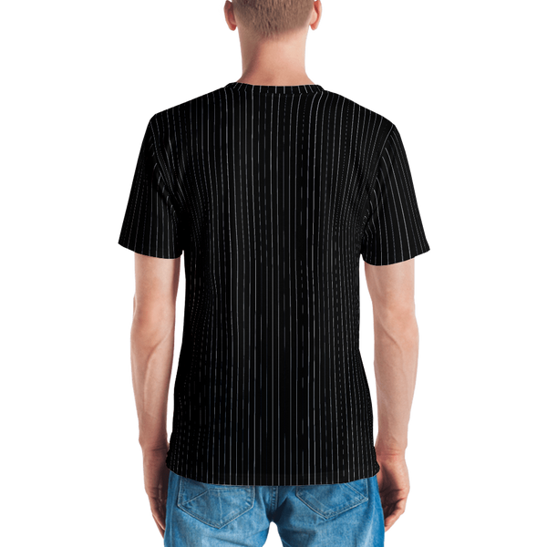 Yes Pinstripe T-shirt: Black