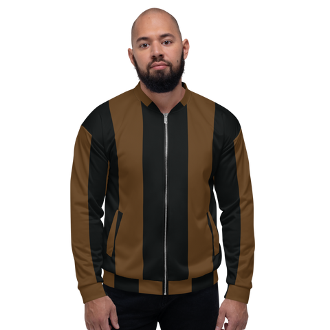 Choco Big Stripe Bomber Jacket