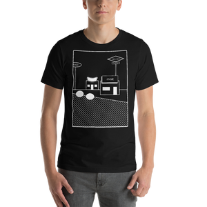 Hot Dog Stand Short-Sleeve T-Shirt: Black