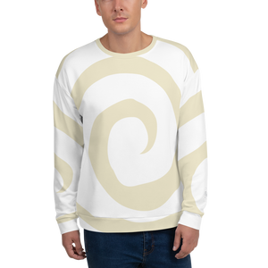 Frazzeled Sweatshirt: White