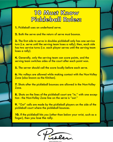 10 Must Know Pickleball Rules Before You Hit the Court | Pickler Pickleball