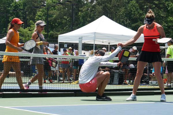 Pickler Pickleball Blog - Pickler's Pickleball Picture of the Month - Leigh Waters, Anna Leigh Waters, Lucy Kovalova, Irina Tereschenko