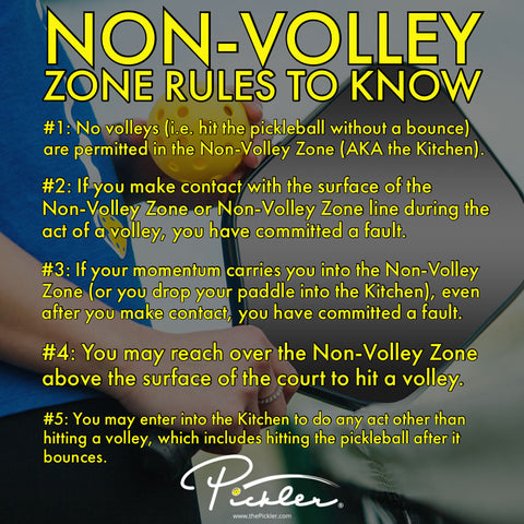 Non-Volley Zone Rules to Know | Pickler Pickleball
