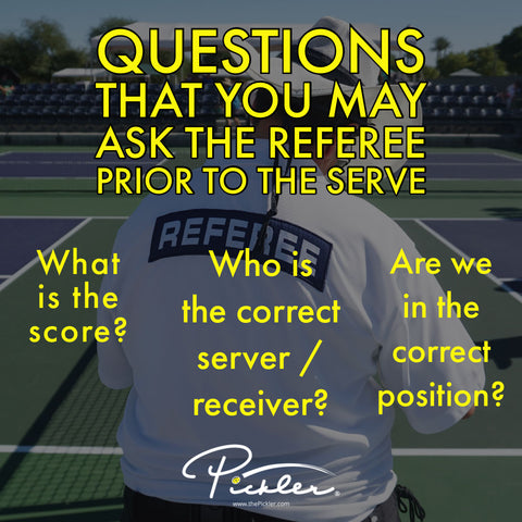 Questions that You May Ask Pickleball Referee | Pickler Pickleball
