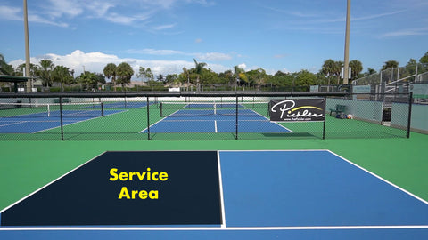Pickleball Service Area | Pickler Pickleball