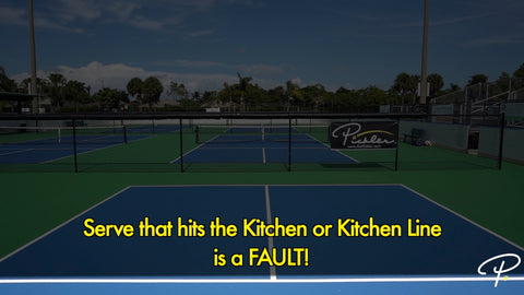 Non-Volley Zone Rules for Serve | Pickler Pickleball