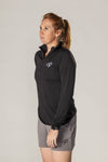 Pickler Pickleball Black Women's Victory Pullover
