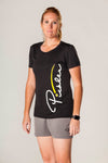 Pickler Pickleball Black Women's Classic Performance Short-Sleeve Tee Shirt