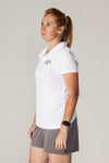 Pickler Pickleball White Women's Victory Polo