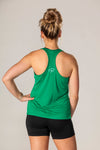 Pickler Pickleball Green Women's Performance Racerback Tank Shirt