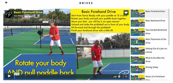 Pickler Pickleball - Drives Pickleball Lesson