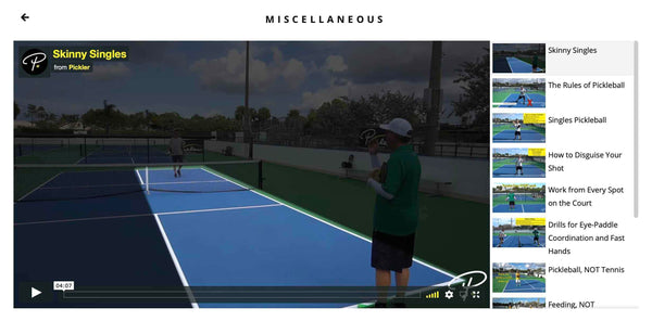 Pickler Pickleball - Drill Pickleball Lesson