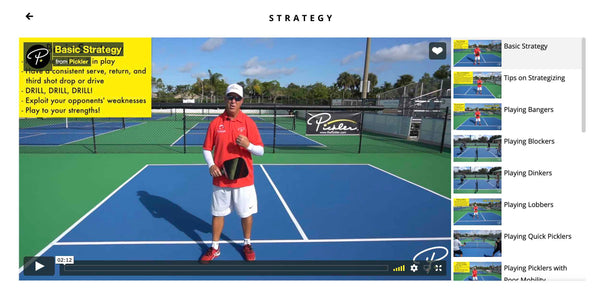Pickler Pickleball - Strategy Pickleball Lesson