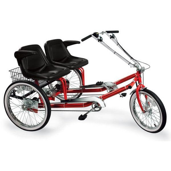 "Worksman Side-by-Side ""Team Dual"" 3-Speed Recumbent Trike"