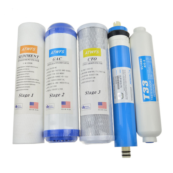 5 Stage Water Filter Cartridge for Reverse Osmosis System
