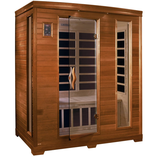 DYN-6444-04 Dynamic Low EMF Far Infrared 3-Person Home Sauna, Modena Edition